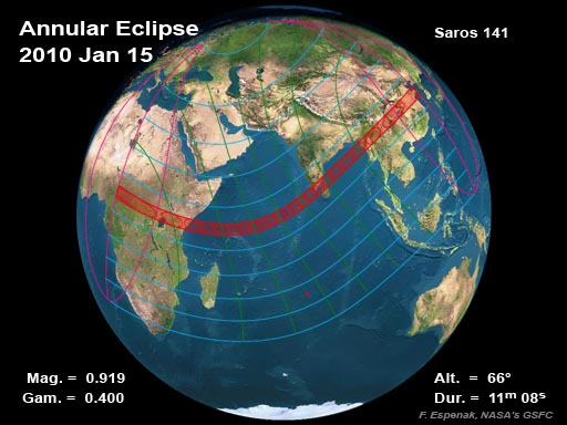 Solar eclipse 15 Jan
