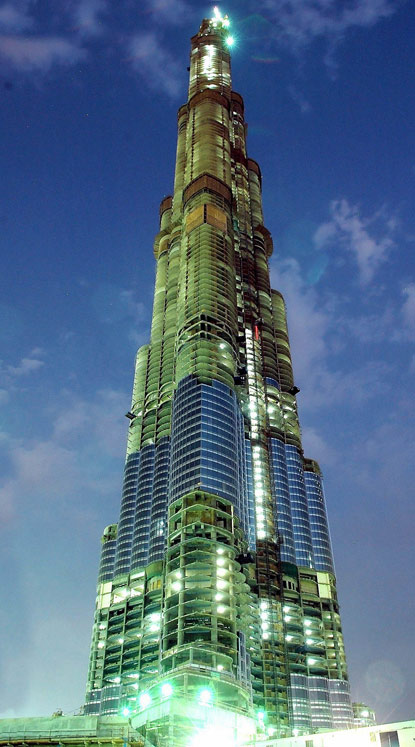 Burj Khalifa (Burj Dubai) At the top detailed ticketing information