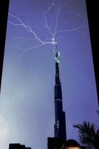 lightning on burj