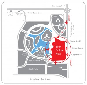 location map Burj Dubai