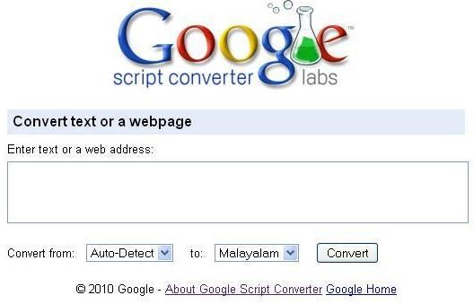 New Google script converter- Converts web pages phonetically to different languages