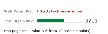 Google page rank update-Now techlineinfo with a page rank of 6
