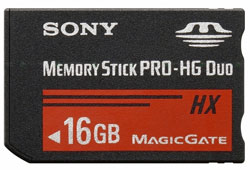 Sony unveiled its high-speed memory card Memory Stick PRO-HG Duo HX