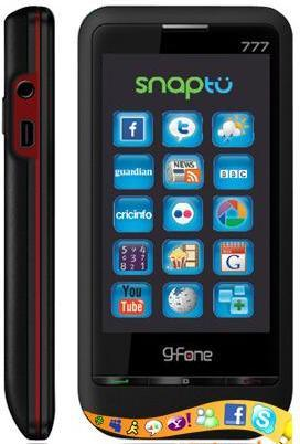 G fone 777 – A low cost full touch screen dual SIM smart phone.