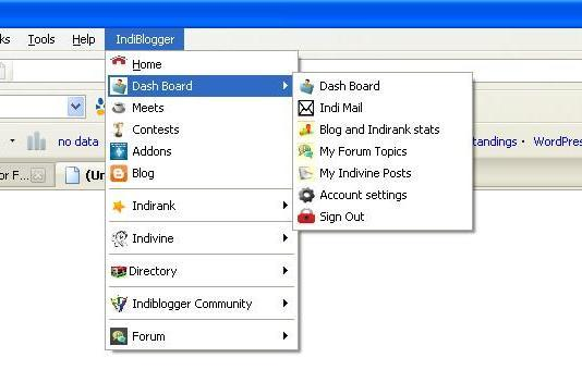 IndiBlogger Firefox addon- Easy navigation through IndiBlogger menus