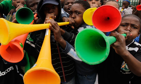 Solution for the buzz of  Vuvuzela in FIFA World cup 2010