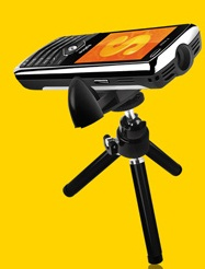 Spice has lanuched a new projector phone Popkorn M 9000