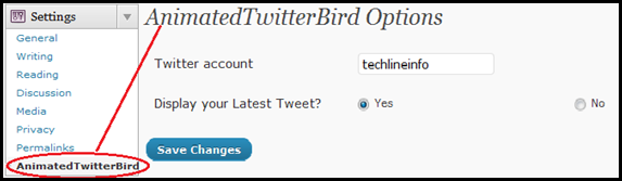 twitterbird2 thumb WordPress Plugin  Displays Animated Twitter Bird