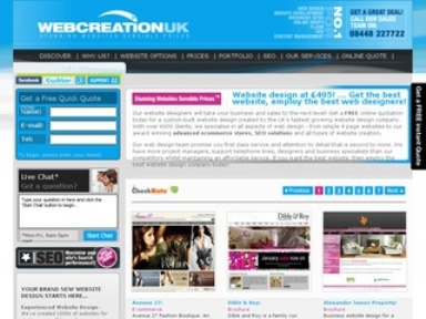 WebCreationUK- Advanced E Commerce store and Web design solutions