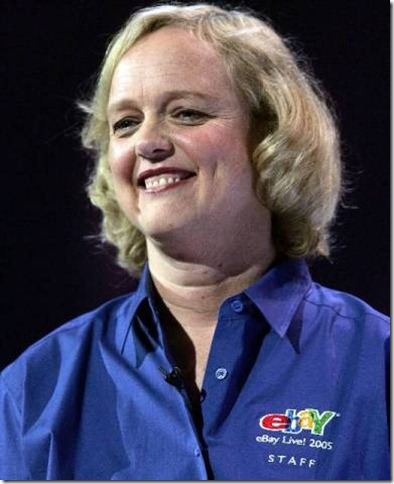 SAN JOSE, CA - JUNE 23: eBay President and CEO Meg Whitman delivers a keynote address at the 2005 eBay Live! conference June 23, 2005 in San Jose, California. The three-day eBay Live! conference brings the eBay community together for seminars, vendor exhibits and networking. (Photo by Justin Sullivan/Getty Images)