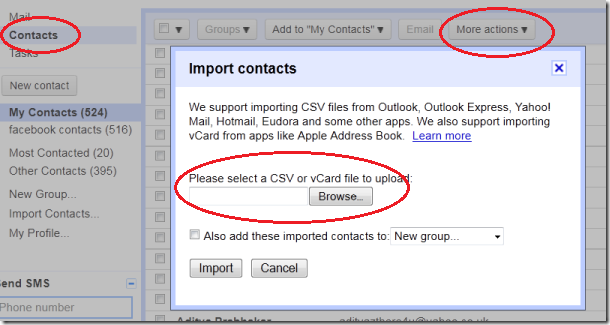 import to gmail thumb Google Plus How to import your Facebook Contacts