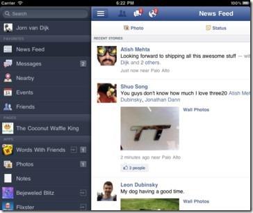 facebook ipad 2
