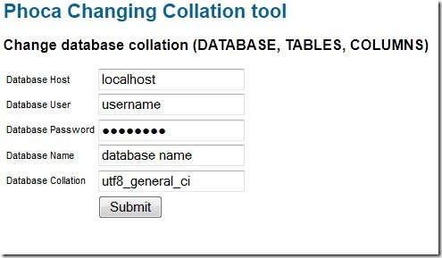 collation change tool