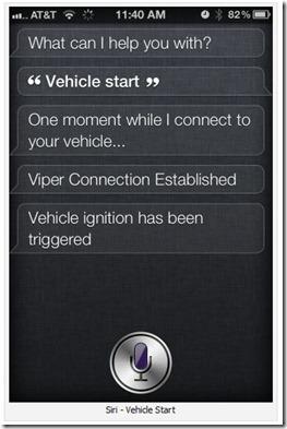 siri vehicle control