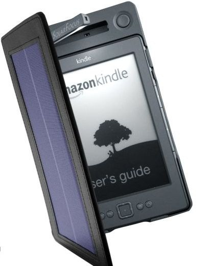 solar powerd Kindle cover