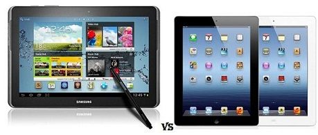 samsung galaxy note 10.1 comparison with The New ipad