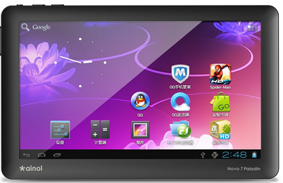 ainol palladin android ics tablet