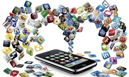 mobile apps thumb Internet on mobile phones fun and facts