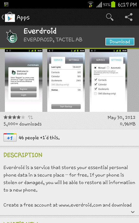 Screenshot 2012 06 15 18 17 072 How to save your mobile contacts and much more in cloud for Free!