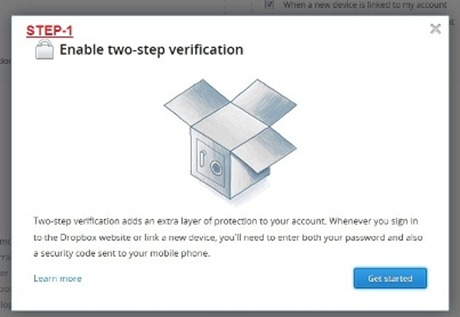 1 thumb Dropbox comes with Two step verification  How to enable it