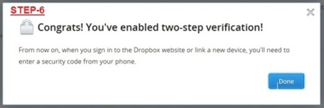 6 thumb Dropbox comes with Two step verification  How to enable it