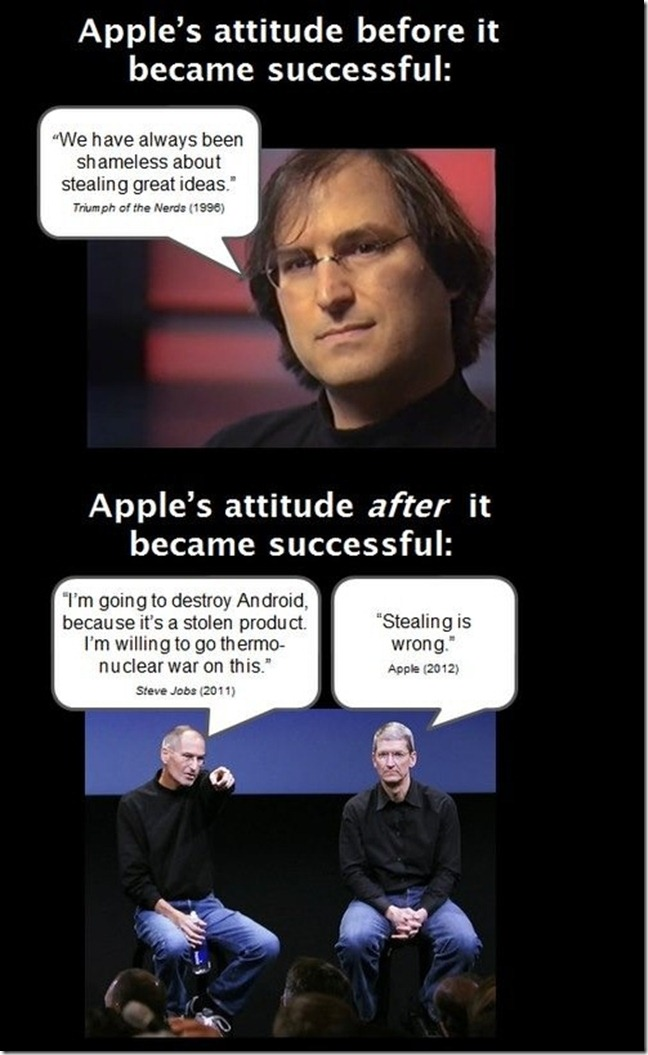 apple now and then thumb Funny Memes and cartoons after Apple vs Samsung legal battle verdict