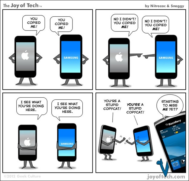 apple samsung war thumb Funny Memes and cartoons after Apple vs Samsung legal battle verdict