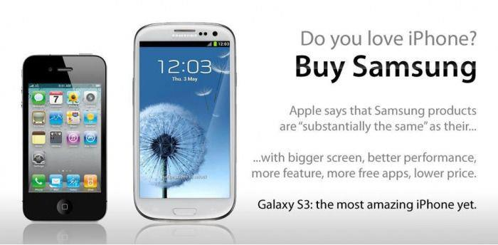 love iPhone Buy Galaxy S3 Funny Memes and cartoons after Apple vs Samsung legal battle verdict