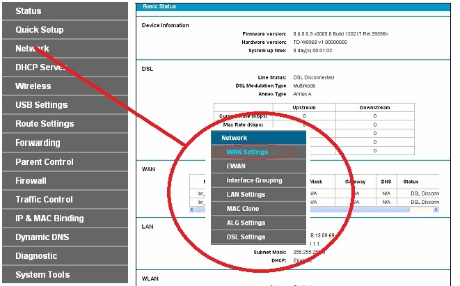 Non Stop Information: How to configure TP Link TD-W8968