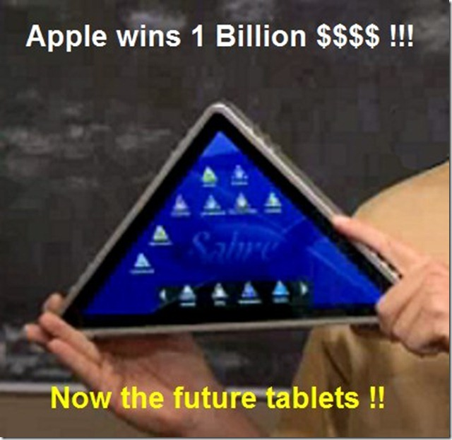 triangular thumb Funny Memes and cartoons after Apple vs Samsung legal battle verdict