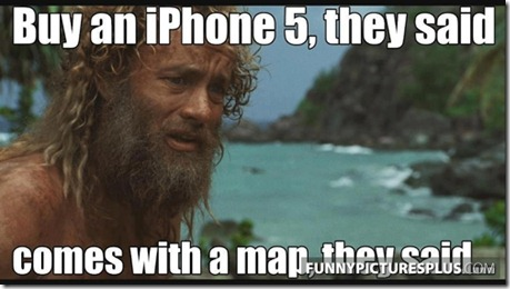 apple maps cast away.png thumb Apple Maps  The biggest mistake   Funny memes and trolls