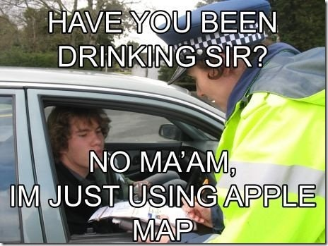 apple maps funny thumb Apple Maps  The biggest mistake   Funny memes and trolls