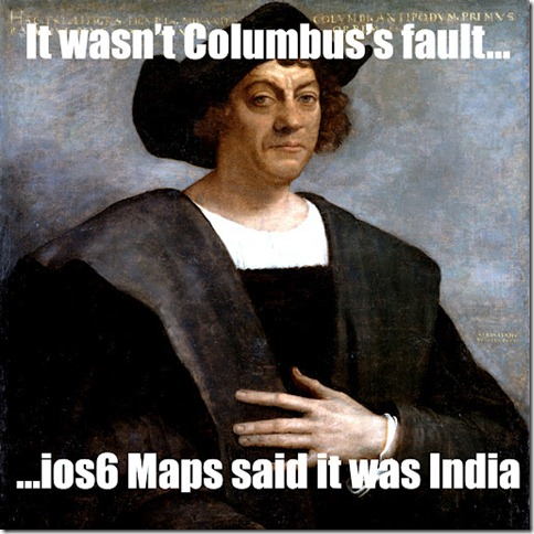 colombus apple maps thumb Apple Maps  The biggest mistake   Funny memes and trolls
