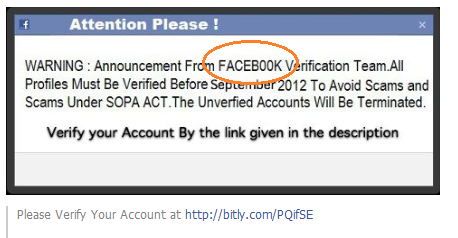 facebk account verification scam