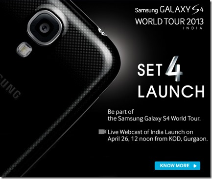 Samsung Galaxy S4-Webcast-Launch