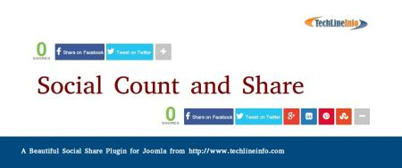 Mashable Inspired Social Share bar with counter plugin for Joomla